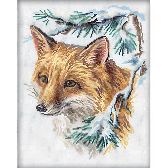 The Fox Counted Cross Stitch Kit-9