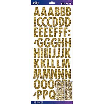 Sticko Alphabet Stickers Gold Futura Regular Glitter E5290122