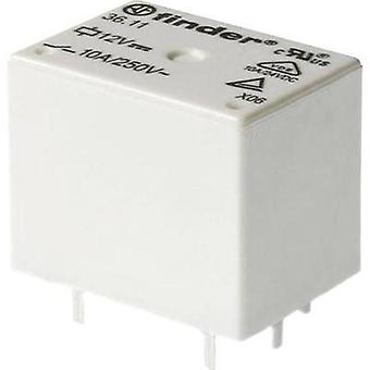 PCB relays 24 Vdc 10 A 1 change-over Finder 1 pc(s)