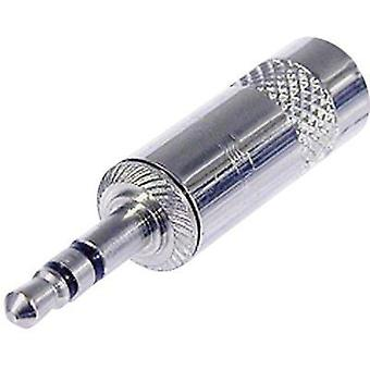 3.5 mm audio jack Plug, straight Number of pins: 3 Stereo Silver Rean AV NYS231L 1 pc(s)