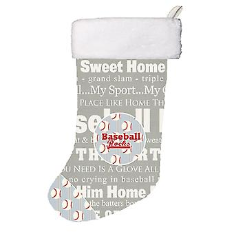 Carolines Treasures  SB3153-CS Baseball Rocks Christmas Stocking