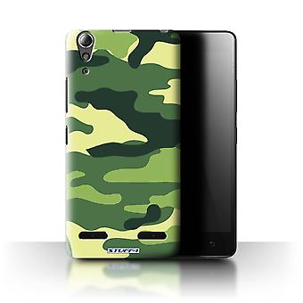 STUFF4/Housse pour Lenovo A6000 + / Plus/vert 2/Camouflage Army Navy