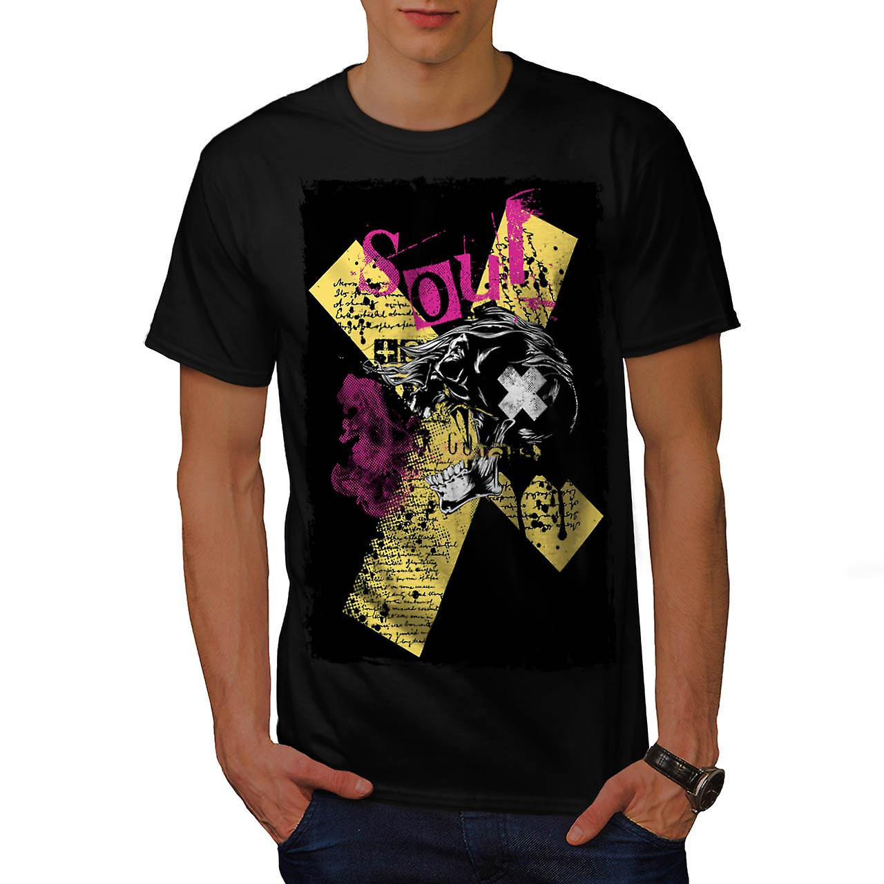 Soul Death Horror Skull Men Black T-shirt | Wellcoda
