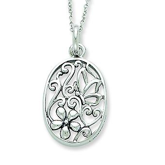 Sterling Silver Antiqued I Appreciate You My Daughter 18inch Necklace - 5.5 Grams