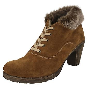 Ladies Rieker Fur Topped Ankle Boots 72020