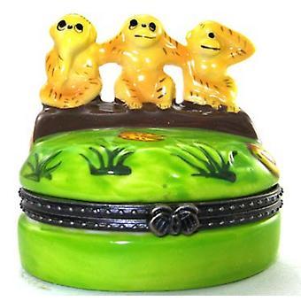 See No Evil Monkies Monkeys Trinket Box  phb