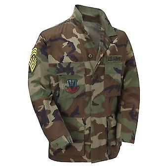 Originale Vintage USA militære BDU skjorte Badges