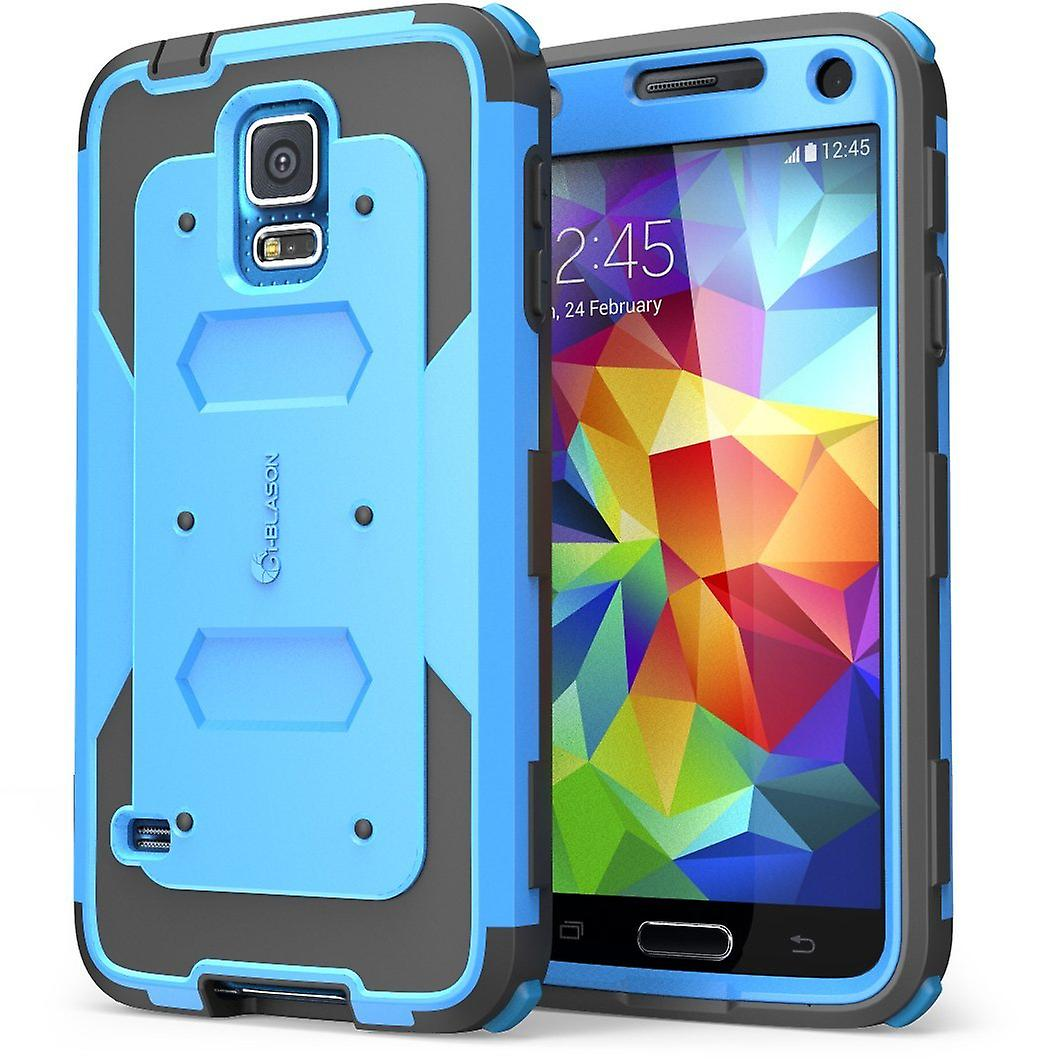 I-Blason-Samsung Galaxy S5- Armorbox Dual Layer Hybrid Full-body Cover-Blue
