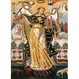 Unknown - Cusco School Saint Thomas Aquinas Poster Print Giclee