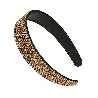 W.A.T Sparkling Gold Medium Crystal Hairband