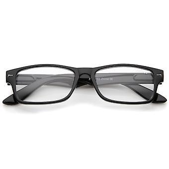 Casual Horn kantede klar linse rektangulære briller 51mm