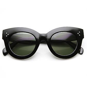Cerchiati di corno grosso oversize di spessore grassetto alta moda occhiali da sole