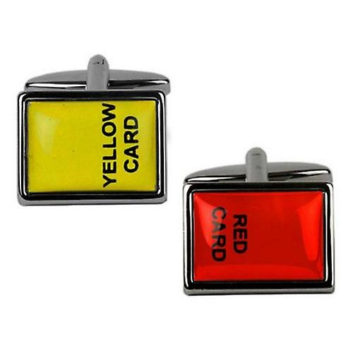 Zennor Red and Yellow Card Cufflinks - Red/Yellow