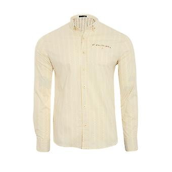 Tazzio fashion shirt men's long sleeve-shirt yellow G-708