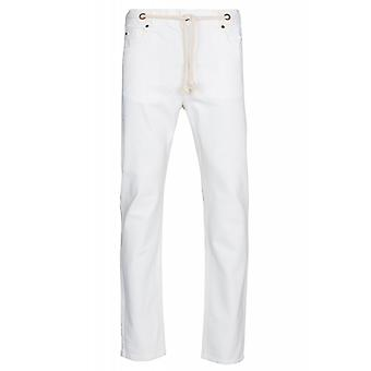 SOMeWEaR the new black pants mens jeans white with belt strap