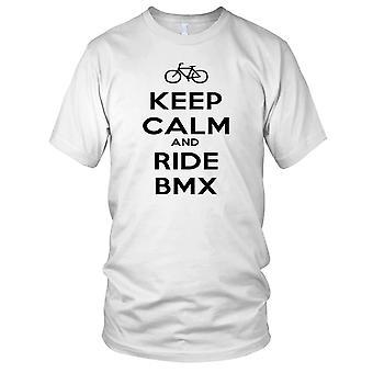 Mantenere la calma e Ride BMX Ladies T Shirt