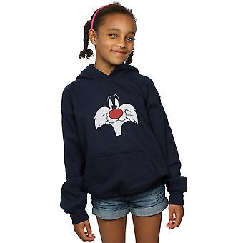 Looney Tunes Girls Sylvester Big Face Hoodie