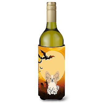 Halloween Papillon Sable biały butelka wina Beverge izolator Hugger