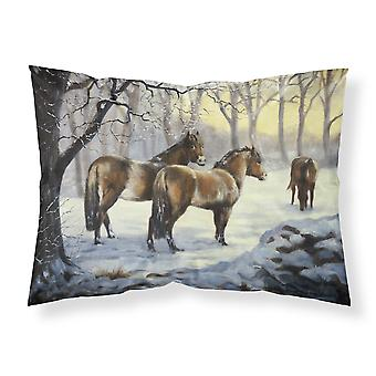 Horses in Snow by Daphne Baxter Fabric Standard Pillowcase