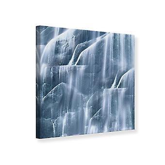 Lærred Print grå vandfald