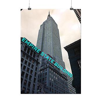Matte or Glossy Poster with Empire State City Fashion | Wellcoda | *q205