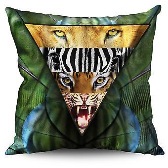 Lion Animal Linen Cushion Lion Animal | Wellcoda