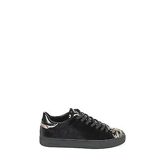 Crime London Damen 2540420 Schwarz Leder Sneakers
