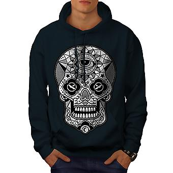 Eye Skull Head Men NavyHoodie | Wellcoda