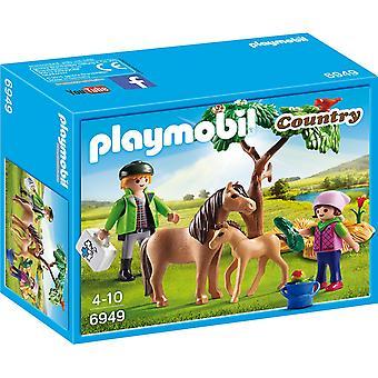 Land van Playmobil dierenarts met Pony en veulen 6949