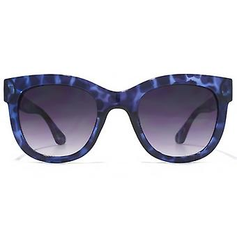 M:UK Hoxton Chunky D Frame Sunglasses In Purple Tortoiseshell