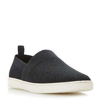 Mens dune FARGO voler tricot Slip sur chaussure en noir