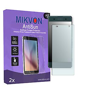Sony Xperia XA Screen Protector - Mikvon AntiSun (Retail Package with accessories) (intentionally smaller than the display due to its curved surface)
