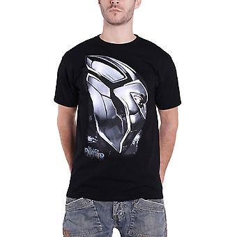 Black Panther T Shirt Metal Mask Profile Logo new Official Marvel Mens Black