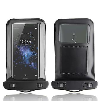 InventCase Waterproof Dustproof Bag Protective Case Cover for Sony Xperia XZ2 - Black