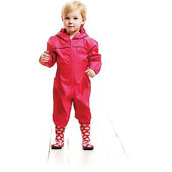 Regatta Kids pagayer imperméable à l'eau de pluie respirant costume TRW466 rose