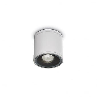 Ideal Lux Outdoor Gun Surface Mounted Downlight, White GU10