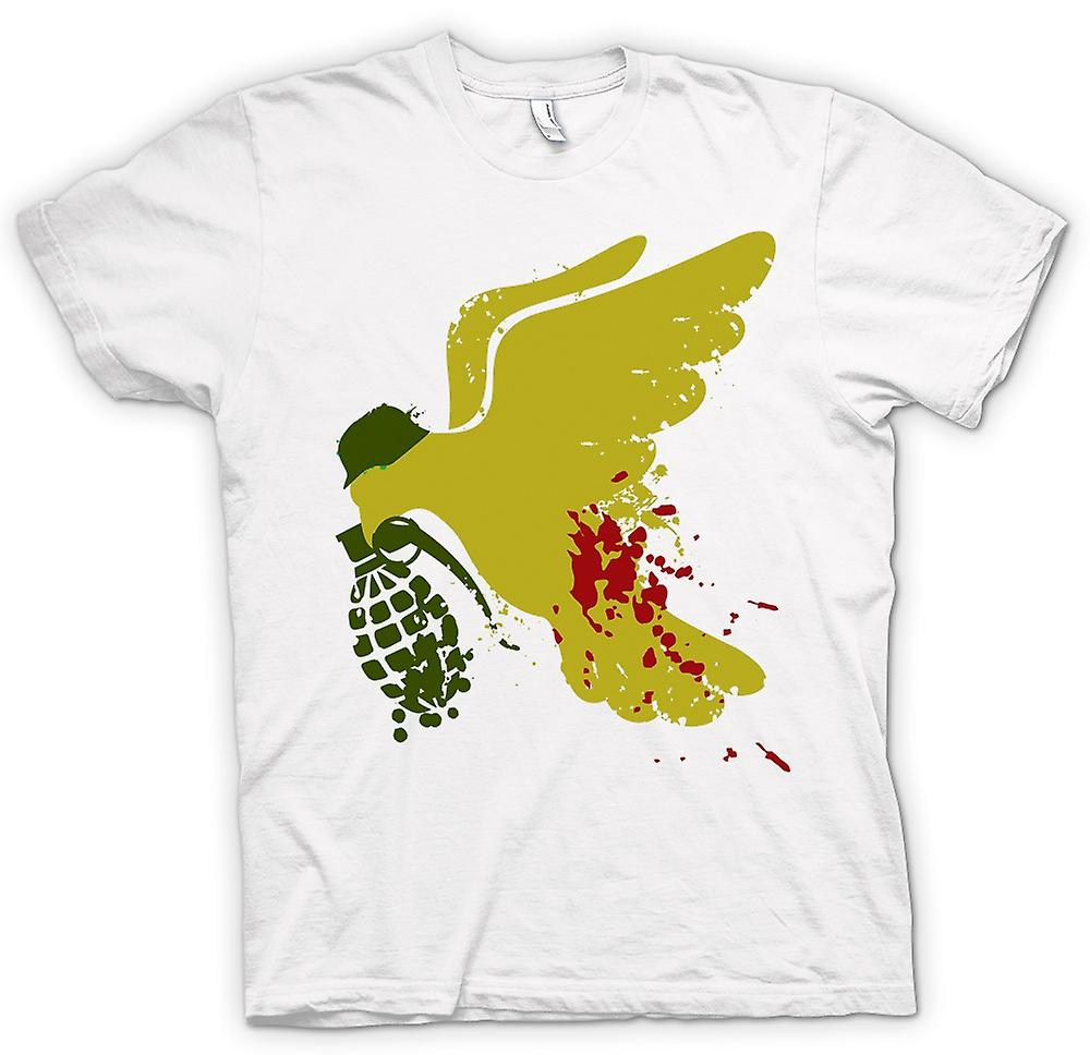 Hommes T-shirt - Peace Not War Dove Grenade - Drôle