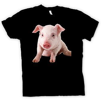 Kids T-shirt-schattige biggen varken portret