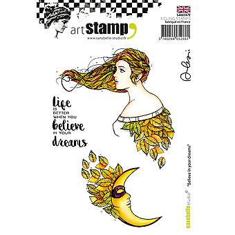 Carabelle Studio Cling Stamp A6 By Alexis Toupet-Believe In Your Dreams