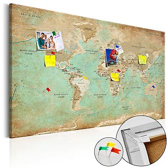 Decorative Pinboard - Celadon Journey [Cork Map]