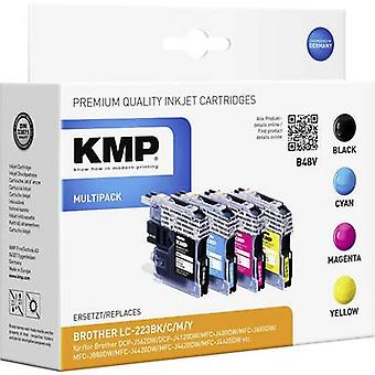 KMP Ink replaced Brother LC-223 Compatible Set Black, Cyan, Magenta, Yellow B48V 1529,0050