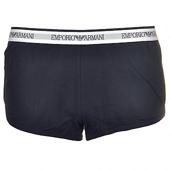 Emporio Armani Women Visibility Iconic Stretch Cotton Sporty Boy Shorts, Marine, XS