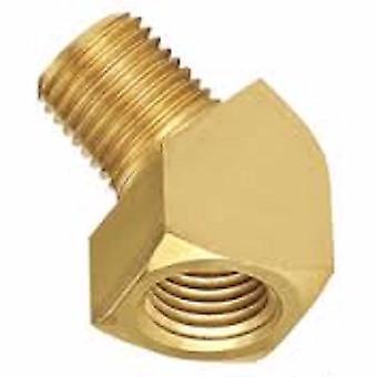 Big A Service Line 3-22440 45 deg Forged Brass Street Elbow Fitting 1/4