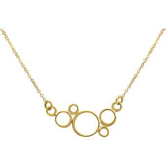 Gemshine - Damen - Halskette - Anhänger - BUBBLES - 925 Silber - Vergoldet –- 45 cm
