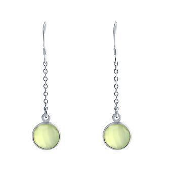 Gemshine - Damen - Ohrringe - Ohrhänger - 925 Silber - Chalcedon - Meeresgrün - 3,1 cm