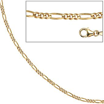 Figaro chain 333 Yellow Gold 2.8 mm 42 cm gold chain necklace gold necklace carabiner