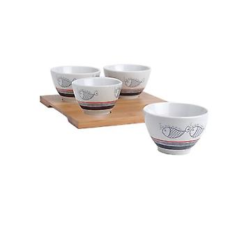 Amadeus Appetizer Tray 4 Bowls (Kitchen , Household , Appetizers and Snacks)