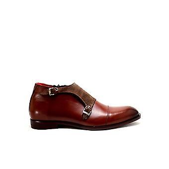 Handcrafted Premium Leather Andrea Brown Ankle Shoe