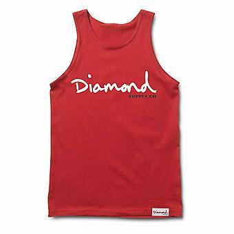 Diamond Supply Co Og Script Tank Red