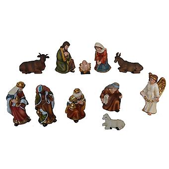NATALE 11 PCs Nativity figures 11 cm for Nativity stable Nativity accessories